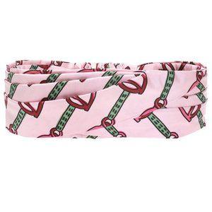 Gucci Silk Horse-bit Headband in Pink